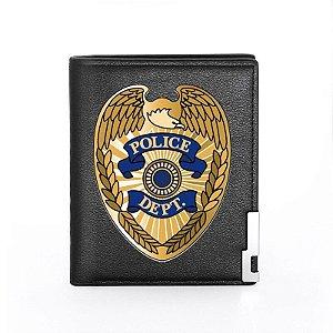 Carteira Em Couro - Policial