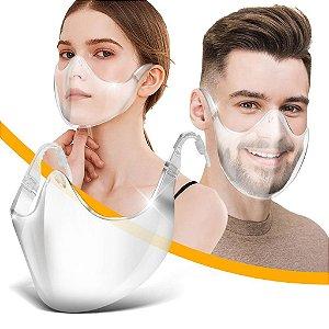 Máscara de Proteção Reutilizável Transparente