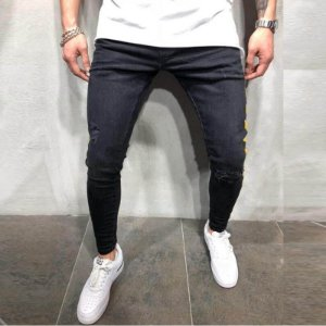 Calça Jeans Masculina Skinny - Preta