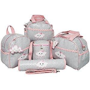 Kit com Bolsas de Maternidade Para Bebês - Nuvem Chuva De Amor