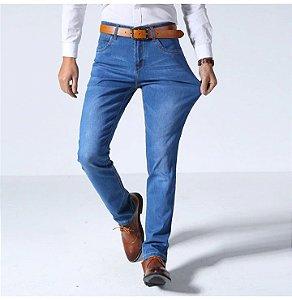 Calça Jeans Masculina Slim Premium Confort - Azul