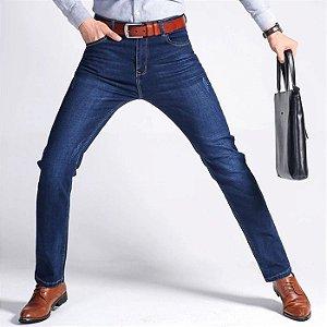 Calça Jeans Masculina Slim Premium Confort - Azul Marinho