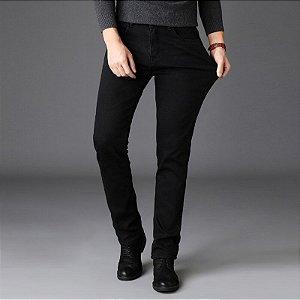 Calça Jeans Masculina Slim Premium Confort - All Black