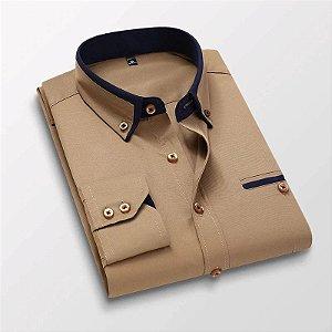 Camisa Social Masculina Spring Slim