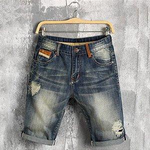 Bermuda Jeans Skinny Destroyed