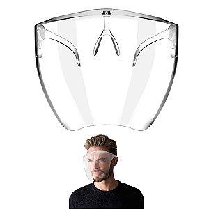 Máscara de Proteção Reutilizável Transparente - Estilo Óculos