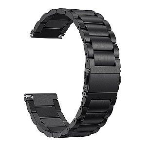 Pulseira em Aço para Relógios e Smartwatches 18mm / 20mm / 22mm