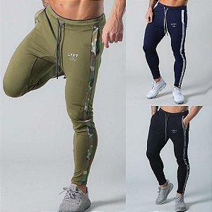 Calça de Moletom Fitness Jogger Masculina Camuflada