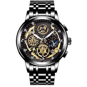 Relógio Masculino Quartzo Lunar