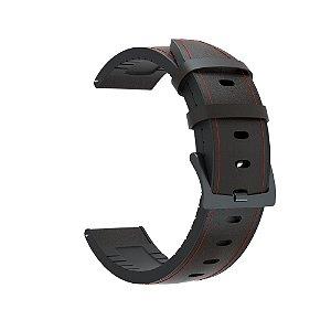 Pulseira em Silicone/Couro 22mm de Largura para Relógios