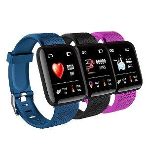 Kit com 3 Relógio Smartwatch Fitness Pró