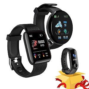 Compre 2 Relógio Smartwatch e Ganhe 1 Smartband Fitness Pró