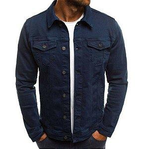 Jaqueta Jeans Masculina Tradicional - Azul Marinho