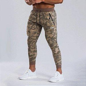 Calça de Moletom Fino Fitness Jogger Masculina Gitf - Camuflada