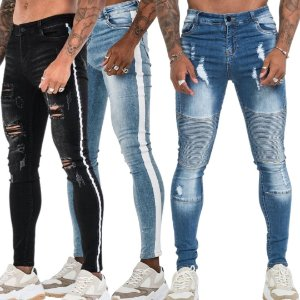 Kit com 3 Calças Jeans Masculina Premium Skinny