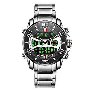 Relógio Masculino Digital Kademan - Aço Inox