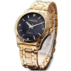 Relógio Unissex Chenxi Dourado