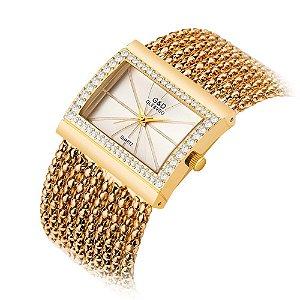 Relógio Feminino estilo Pulseira Diamond