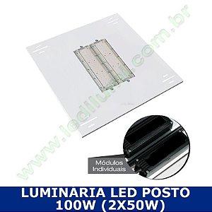 Luminária Led Posto De Combustível Embutir 100w - Ledilumi