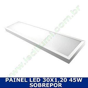 Painel Led 30X1,20 48W Sobrepor Branco Frio - LedIlumi
