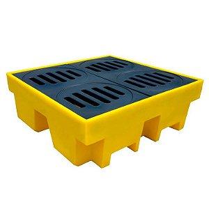 Pallet de Contenção Amarelo para 4 tambores - 420 L