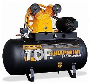 Compressor De Ar Top - 10 pés - 110 Litros 220V/380V - Trifásico - Chiaperini