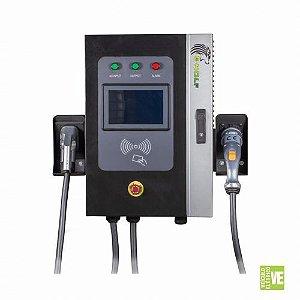 Estação de Recarga Rápida Industrial 20kW com 2 Conectores