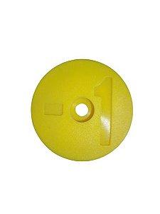 Número para Disco de Identificação de Tanque - Amarelo