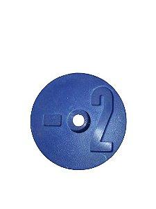 Número para Disco de Identificação de Tanque - Azul