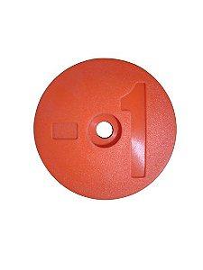 Número para Disco de Identificação de Tanque - Laranja