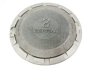 """Tampa de câmara de Calçada 12 """" com Aro - Ferro Nodular - Zeppine"""