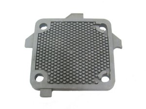 Placa Separadora de Fibra para Filtro Prensa - 7 X 7 com 4 Furos