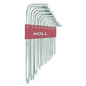 Jogo de Chaves Torx Longa T9 - T50 Contém 10 peças - Marca Noll