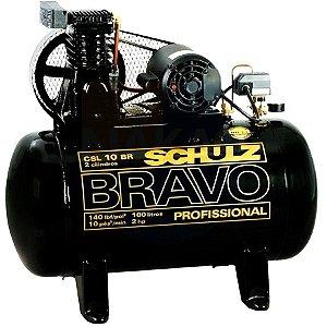 Compressor de ar Profissional  Schulz 2HP - 100 Litros -  monofasico