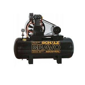 Compressor de Ar Bravo 20 Pés 200 Litros 5 HP 220/ 380 V - CSL20BR - SCHULZ