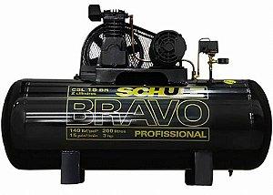 Compressor de ar Profissional Schulz 3HP 200 Litros Trifásico