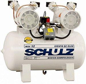 Compressor de Ar Odontológico Schulz - 2 x 1 HP 100 Litros - monofasico