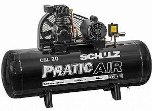 Compressor de Ar Pratic Air Schulz - 5HP - 200 Litros  - Trifásico