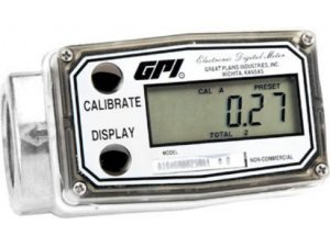 Medidor Digital Em Aluminio Para Etanol, Metanol e Gasolina - 1Pol - 190Lpm - GPI