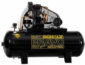 Compressor de Ar industrial Schulz 5HP 250 Litros Trifásico