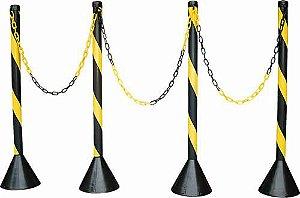 Pedestal para Sinalização - Zebrado s/ Corrente