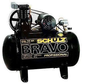 Compressor de ar Profissional  Bravo Schulz  2HP - 100 Litros -Trifásico