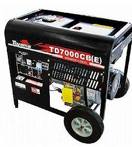 Gerador de energia à diesel 6 kva - monofasico  110/220V