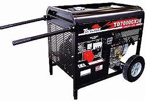 Gerador de energia à diesel 6 kva - Trifasico 110 / 220