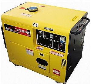 Gerador à Diesel Cabinado Partida Elétrica 418CC Trifásico 380V - TOYAMA