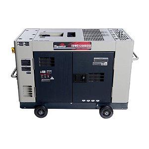 Gerador de energia à diesel - 12,6kva - trifasico 380V - Cabinado