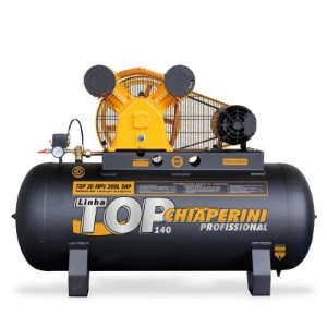Compressor de ar média pressão 20 pés 200 litros trifásico - TOP 20 MPV 200L