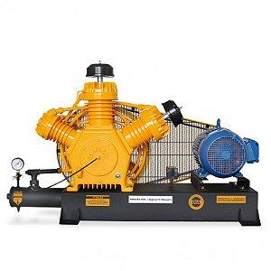 Compressor de Ar Industrial - 40 pcm- 425 Litros Trifásico