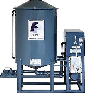 Filtro Prensa Vertical - Reservatório 500 Litros - Vazão 9000 L/h