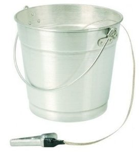 Balde de Alumínio para  descarga de combustível com Cordoalha 12 litros